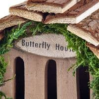 Pet Ting Natural Wooden Butterfly House
